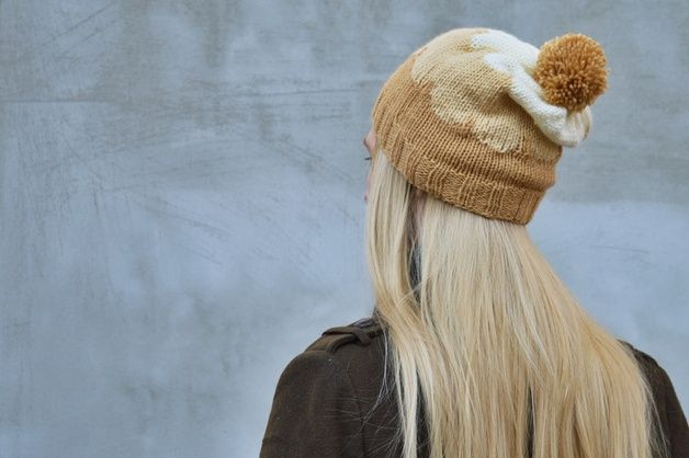 earthy colors on dawanda.com Knitted Hats – Colorful Knitting Hats- Beige Tones – a unique product by EdithStuff on DaWanda