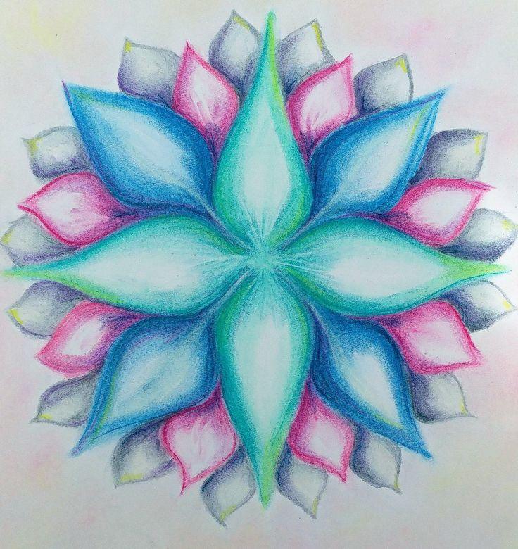 mandala, soft pastels, pastele miękkie https://www.facebook.com/creative.baha/
