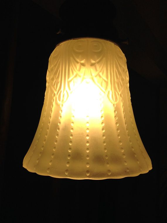 Art nouveau frosted glass lamp shades by dedodesign on etsy