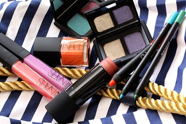 Nars High Seize collection featuring dreamy plums, turquoises, golds, pinks, greens and peaches