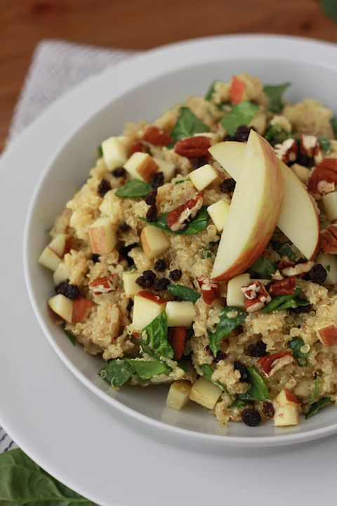 Quinoa Salad with Curry Maple Dressing // One Lovely Life