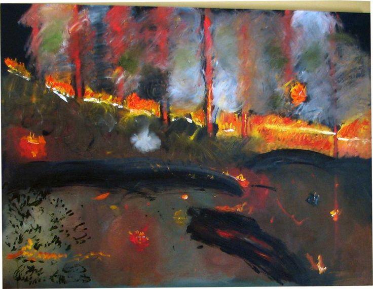 Black Saturday, February 2009. Oil on canvas, 122 x 92 cm  (Lauren James)