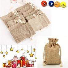 Vánoční večírek pytloviny jutové Pytle Klasické Svatby Strany Favor se stahováním dárkové tašky balení bag (Čína (pevninská část))
