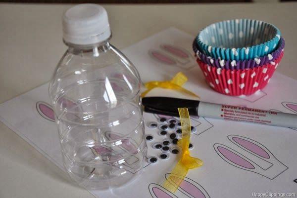 Coelhinho com garrafa pet - materiais