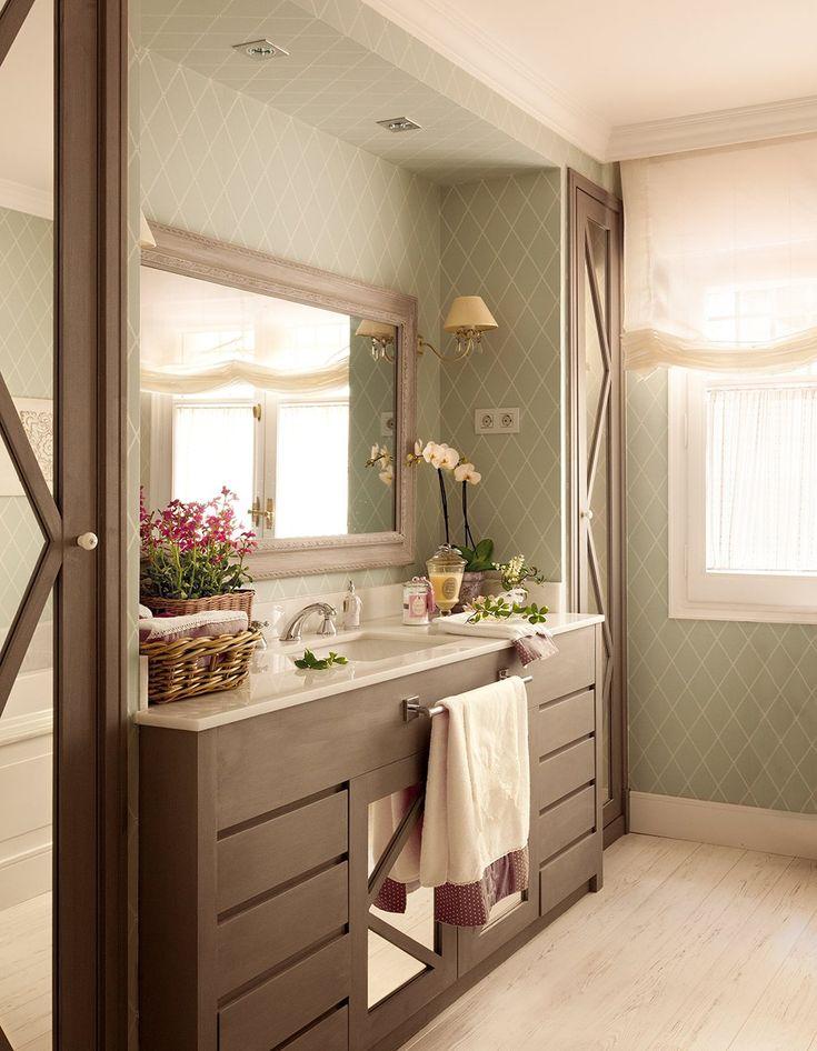 Las 25 mejores ideas sobre puertas de armario con espejos for Armario colgante bano
