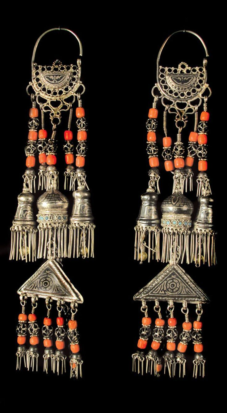 Uzbekistan | Jewellery from the collection of the Museum of Applied Arts in Tashkent | 19th