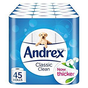 Andrex Classic Clean Toilet Roll Tissue Paper - Pack of 45 Rolls: Amazon.co.uk: Health & Personal Care