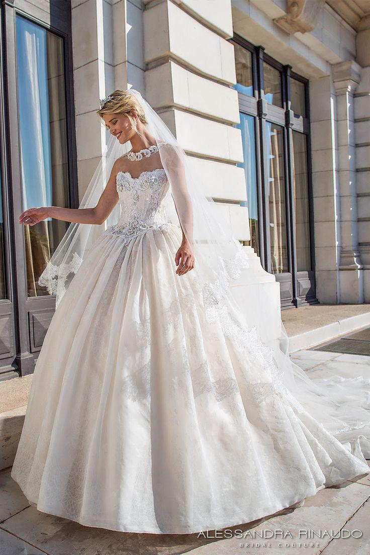 alessandra rinaudo 2017 bustier de mariée décolleté chérie bustier princesse corsage fortement embelli robe de mariage de robe de bal dos nageur royal long train (bellamy) mv