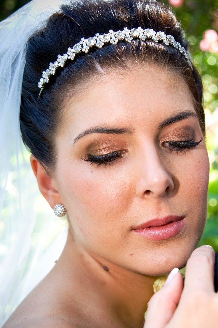 Natural Bridal Makeup in Shades of Brown & Golds with Soft Pink Lips! See more: https://www.facebook.com/luminousbydanielle