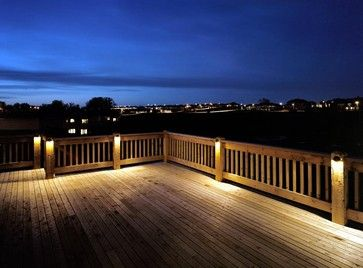 City lights are not this visible, so I don't think accentuating the deck would be a good look. It's also not a pretty deck (at the moment)