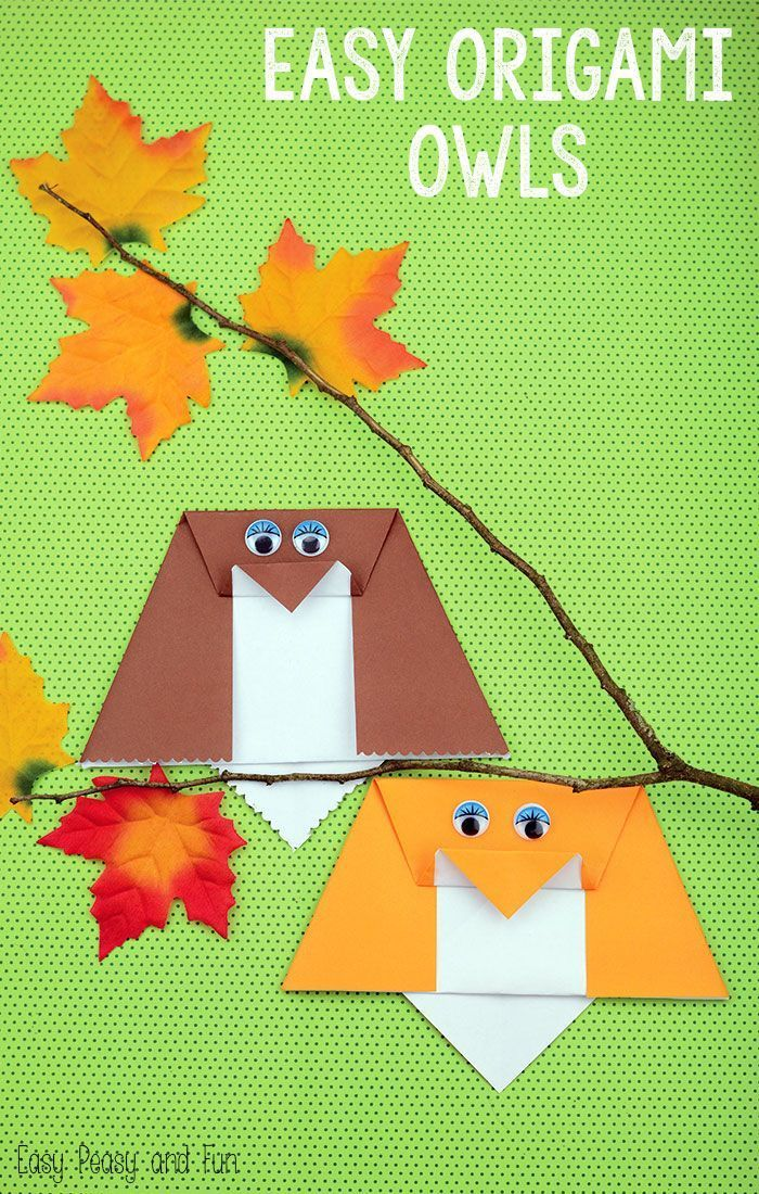 Simple Origami Owl - Origami for Kids - Easy Peasy and Fun