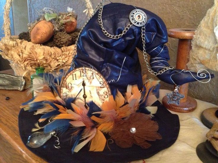 Steampunk witches hat my friend made