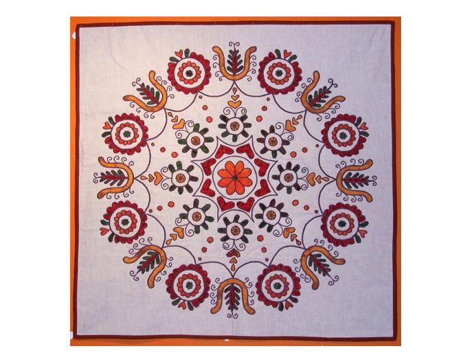 A mandala made with original Transylvanian motifs.