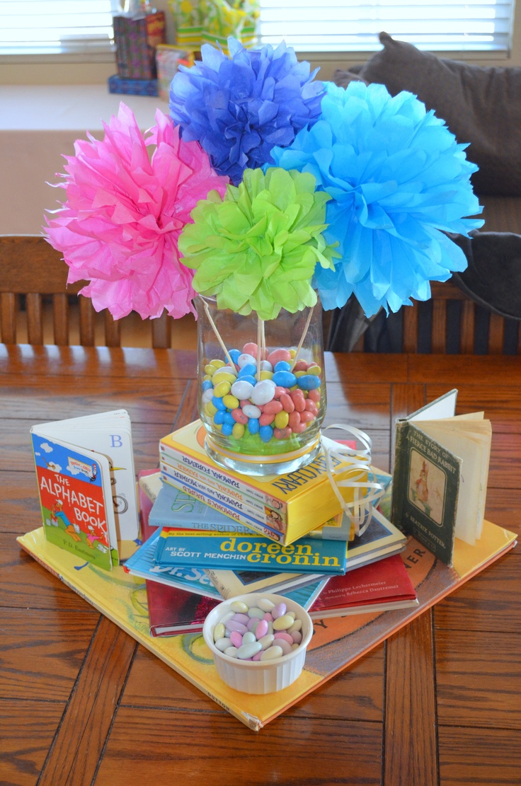 Baby shower table decoration ideas - Baby Shower Decorations For A Favorite Teacher