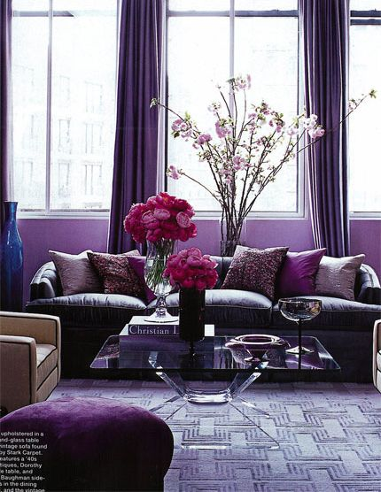 25 best ideas about purple interior on pinterest plum - Grey and purple living room walls ...