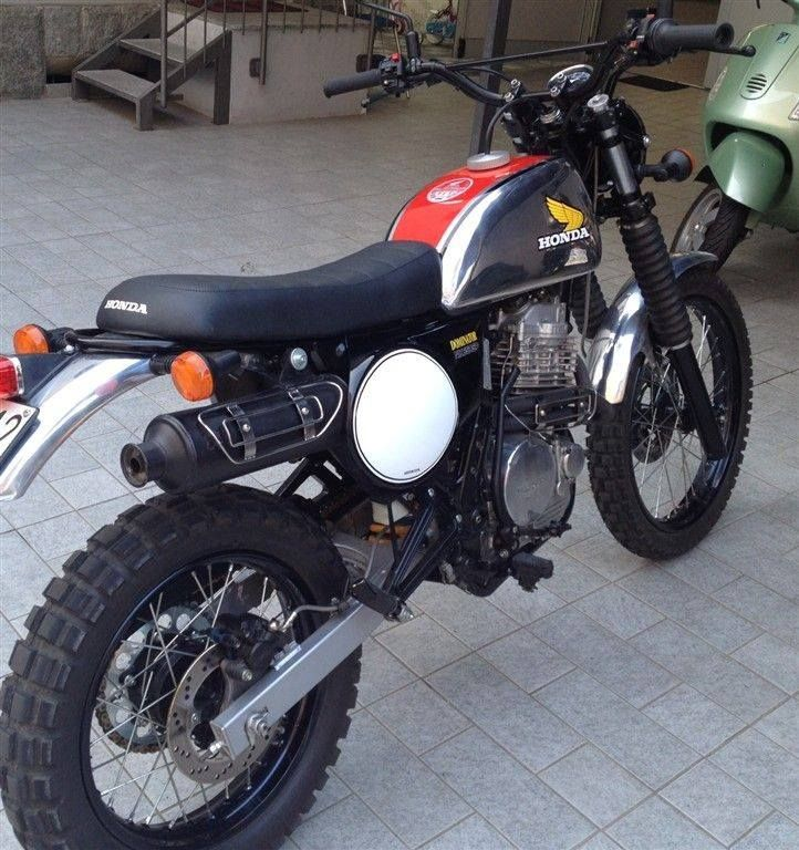 Honda Dominator as a Vintage Scrambler                                                                                                                                                     Plus