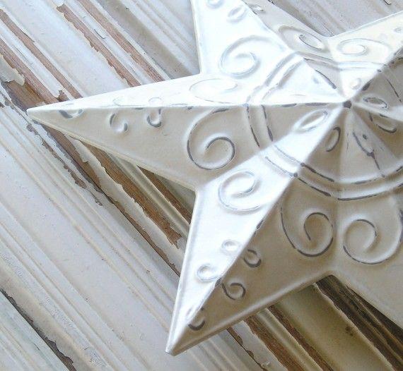 METAL STAR CHRISTMAS TREE TOPPER SHABBY CHIC by holyxuxa on Etsy