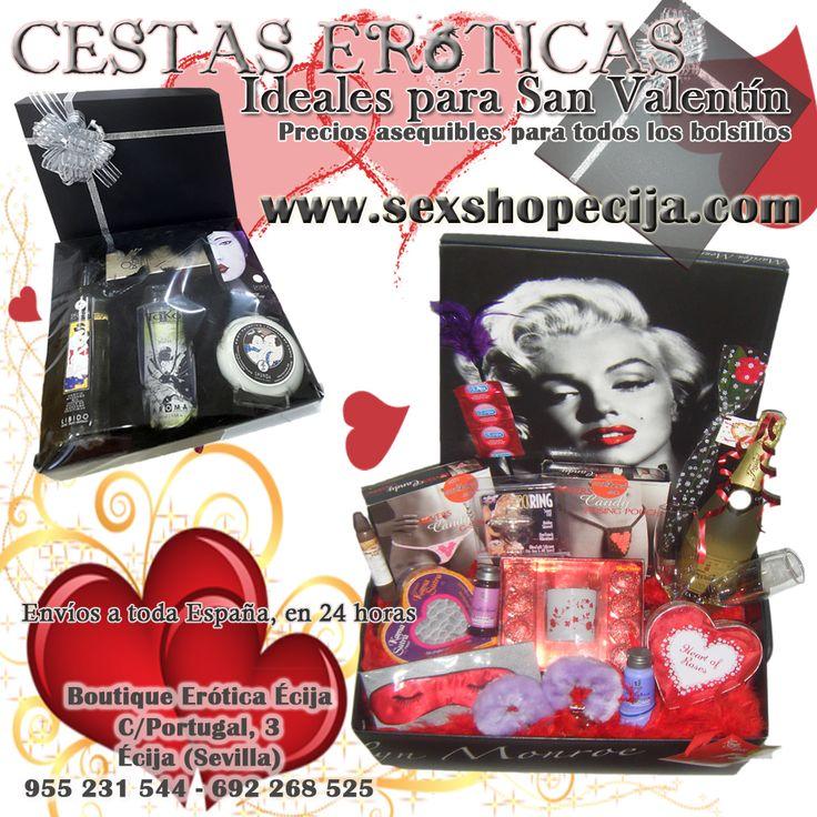 Cestas Eróticas, ideales para San Valentín. Nos adaptamos a tu presupuesto