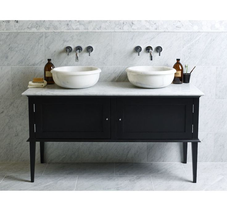 Mandarin stone vanity unit - can be painted in any Farrow and Ball colour (pigeon / blue grey obviously:0)