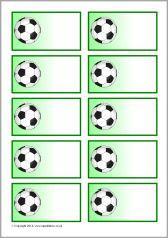 Sports-themed editable peg labels (SB10215) - SparkleBox