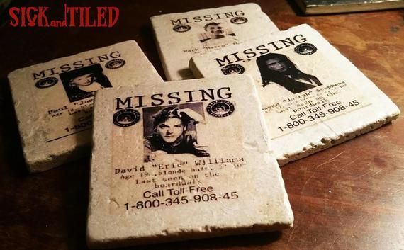 Check Out This Item In My Etsy Shop Https Www Etsy Com Listing 688855995 New Lost Boys Missing Posters Full Set Lost Boys Missing Posters Drink Coasters