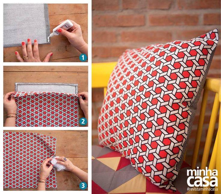 Adesivo De Parede Unicornio Mercado Livre ~ Almofada sem costura? Sim, dá para fazer usando cola para tecido! https  www facebook com