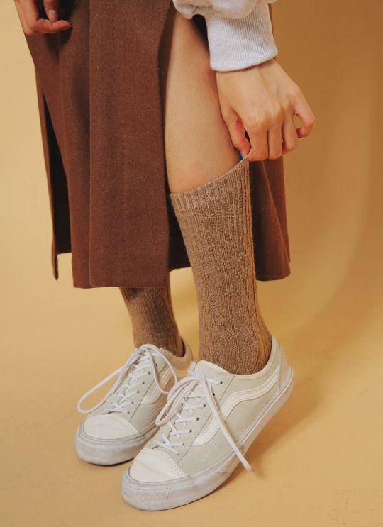 patterned knit socks, stylenanda