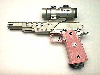 Pink hand Gun! So Cute! with an scope!