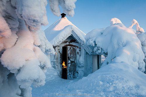 blue white finland snow winter