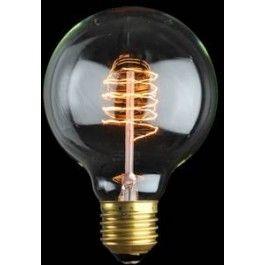 Unieke desing gloeilamp met spiraal draad 25W: http://foir.nl/industriele-gloeilampen/e27-25w-globe-spiraal-lamp.html