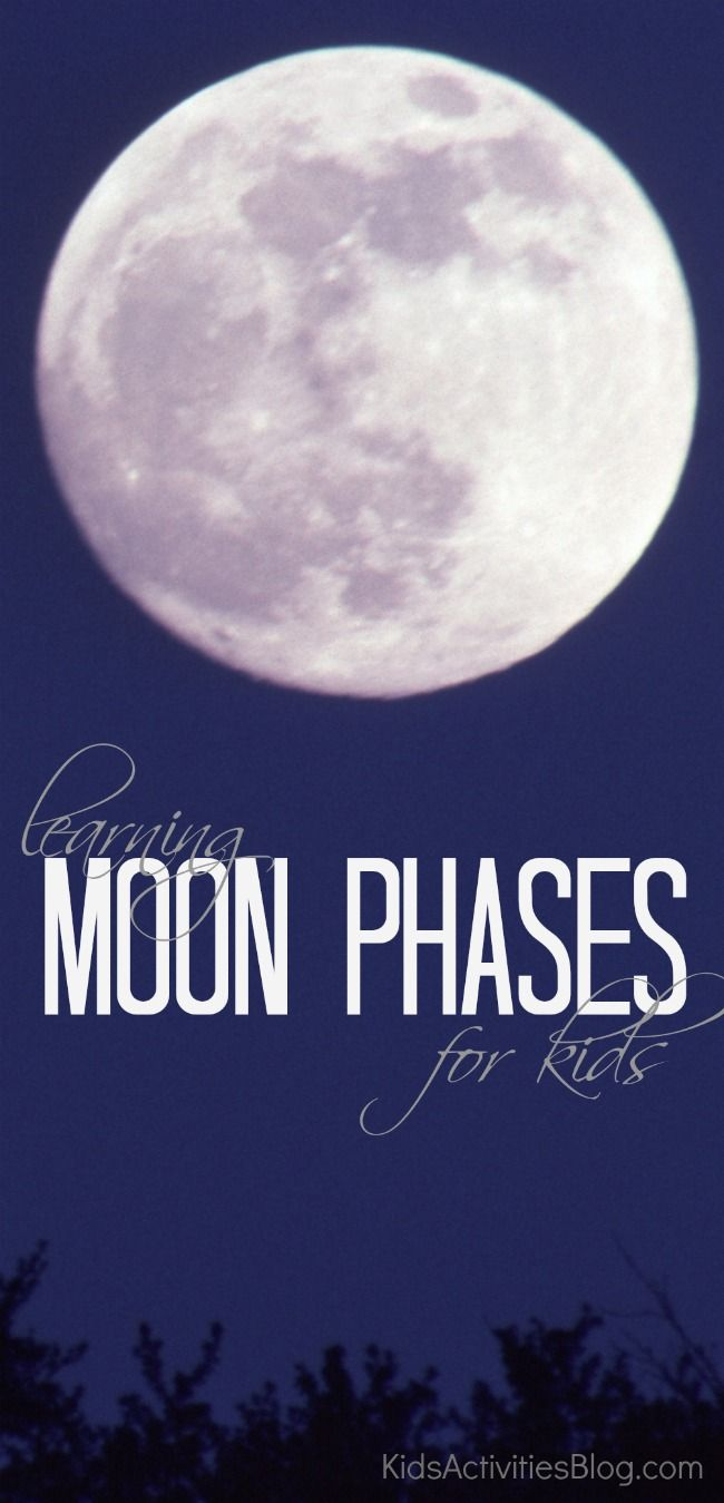 Chart the moon phases with your kids! Love this from Kids Activities Blog.
