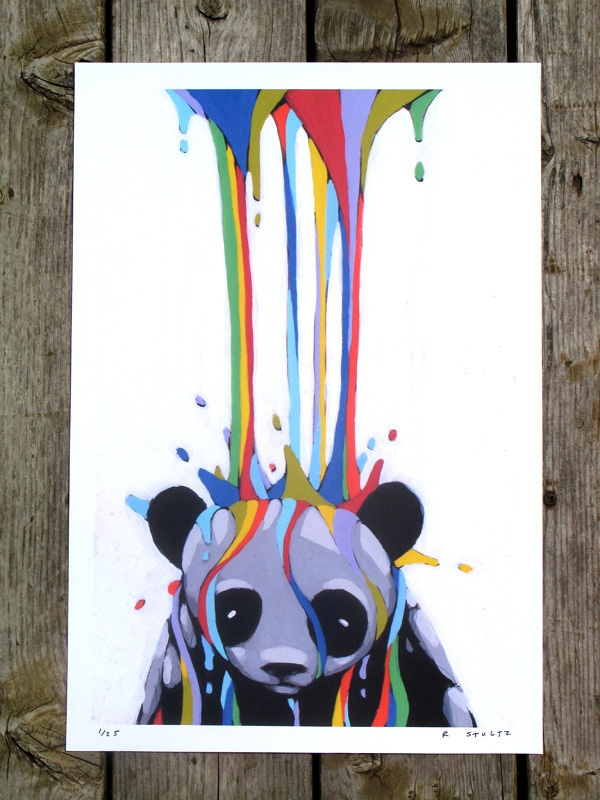 panda.: Pandas Paintings, Ric Stultz, Art Appreciation, L Artists Ric, Colors, Illustration, Graphics Design, Pandas Bears, Pandas Art