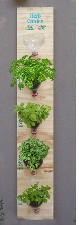 ¿Cómo hacer un jardín de hierbas colgante con materiales reciclados?