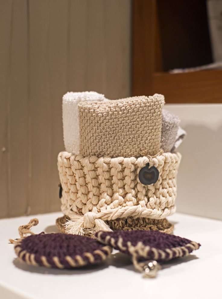 Small Zuma Basket ideal to hold hand towels and any bathroom accessories.
