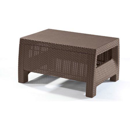 Buy Keter Corfu Resin Coffee Table, All Weather Plastic Patio Furniture,