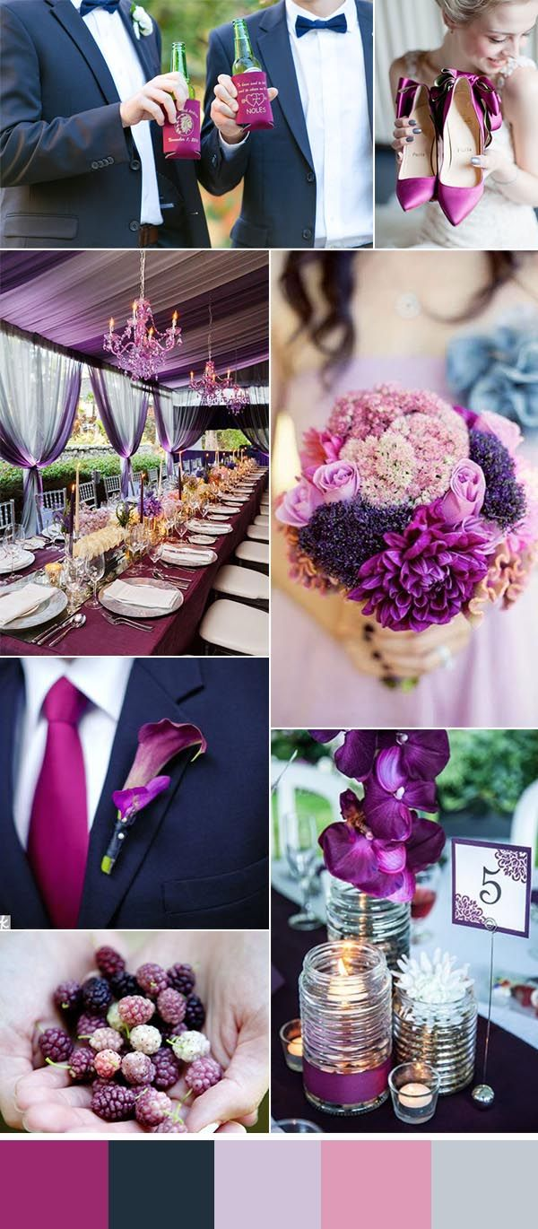 orchid and lavender summer wedding ideas and summer wedding koozie favors