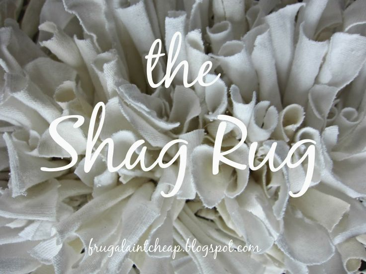 Frugal Ain't Cheap: Shag Rug (with recycled material)