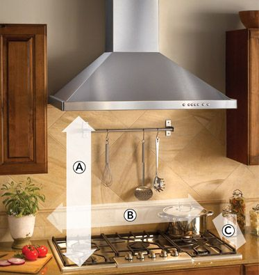 kitchen exhaust base cabinet depth best hood pinterest