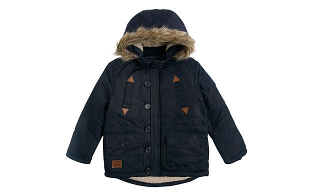 "Faux Fur Parka. ""Cosy and cool, dad's sure to be jealous of this faux fur trim hooded parka."""