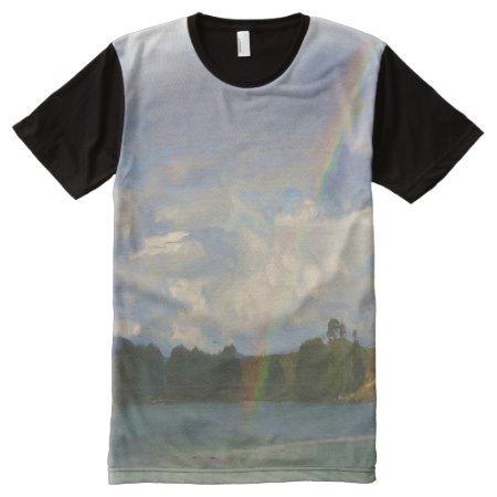 Photo of nature and rainbow with oil paint effect All-Over-Print shirt - click/tap to personalize and buy
