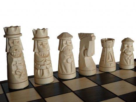 šachy Muminek, ručně vyřezávané
