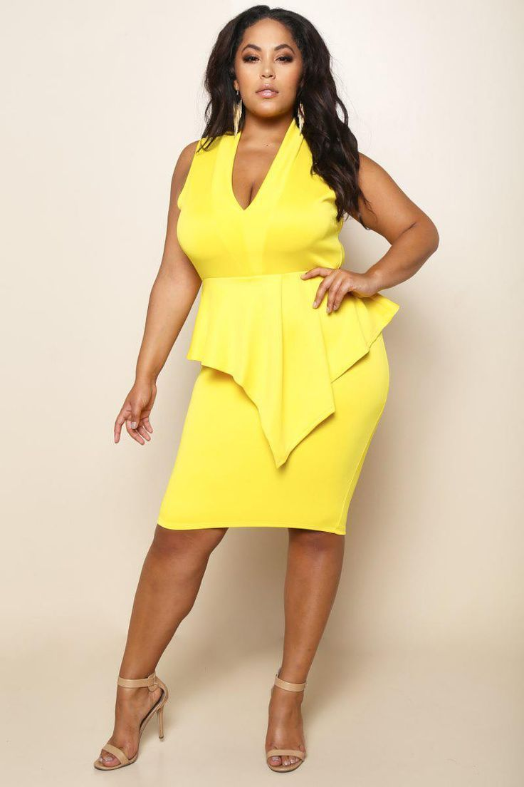 Image result for yellow bandage dress outfits | Diva Gardens | Plus ...