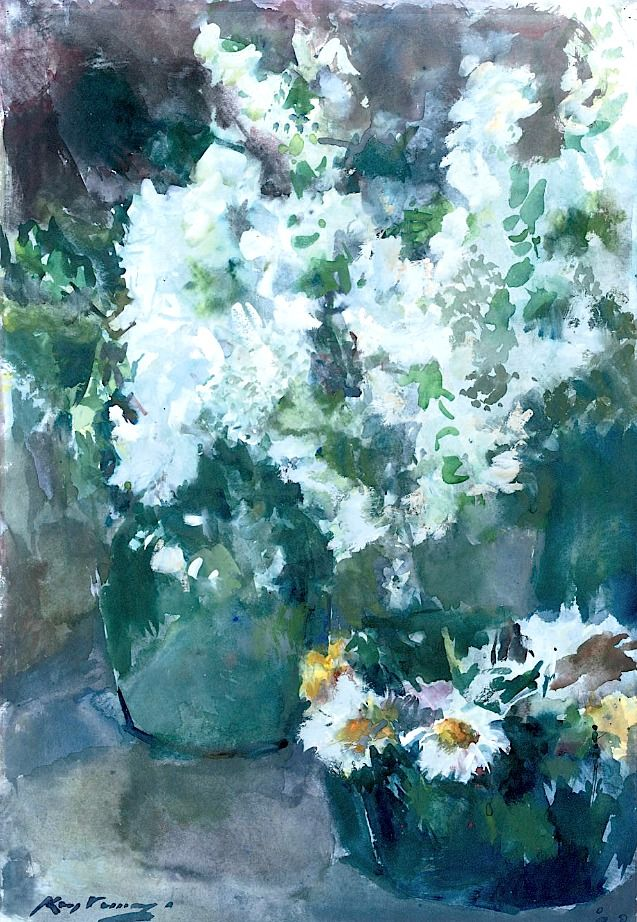 Kees Verwey (1900-1995) A still life with white flowers