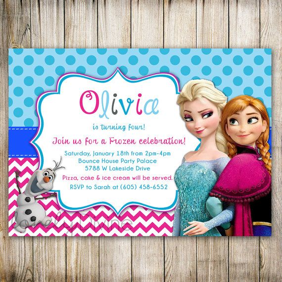 77 best katys party images on Pinterest Birthdays, Frozen party - invitation birthday frozen