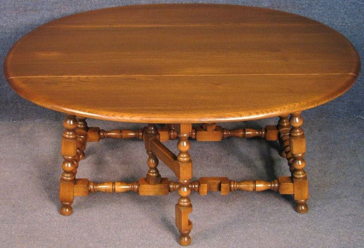 Ercol Elm & Beech Old Colonial 506 Golden Dawn Drop Leaf Coffee / Supper Table #Ercol #DropLeafCoffeeSupperTable