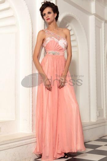 Abiti in Magazzino-La rosa della spalla principessa Cena di abito da sera gonna lunga