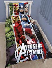 AVENGERS ~ 'Team' Single Bed Reversible Panel Quilt Set
