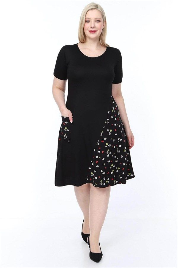 Buyuk Beden Viskon Elbise Papatya 2020 Elbise Elbise Kol Modelleri Elbiseler
