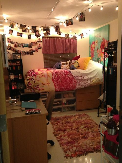Best String Lights For Dorm Rooms : Best 20+ Dorm Room Pictures ideas on Pinterest Diy room decor for college, Dorm picture ...