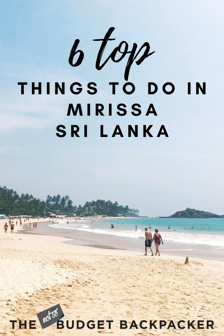 6 Awesome Things To Do In Mirissa Asia Travel Japan Travel